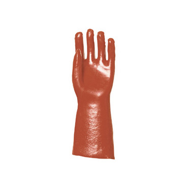 Gants de protection pétrolier PVC rouge